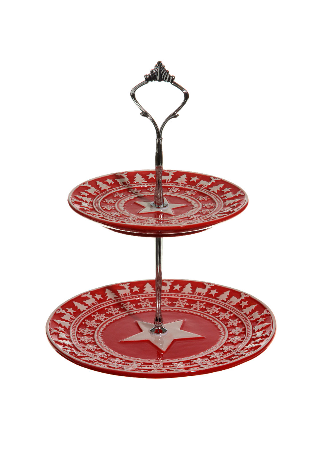 Christmas Design Tiered Cake Stand