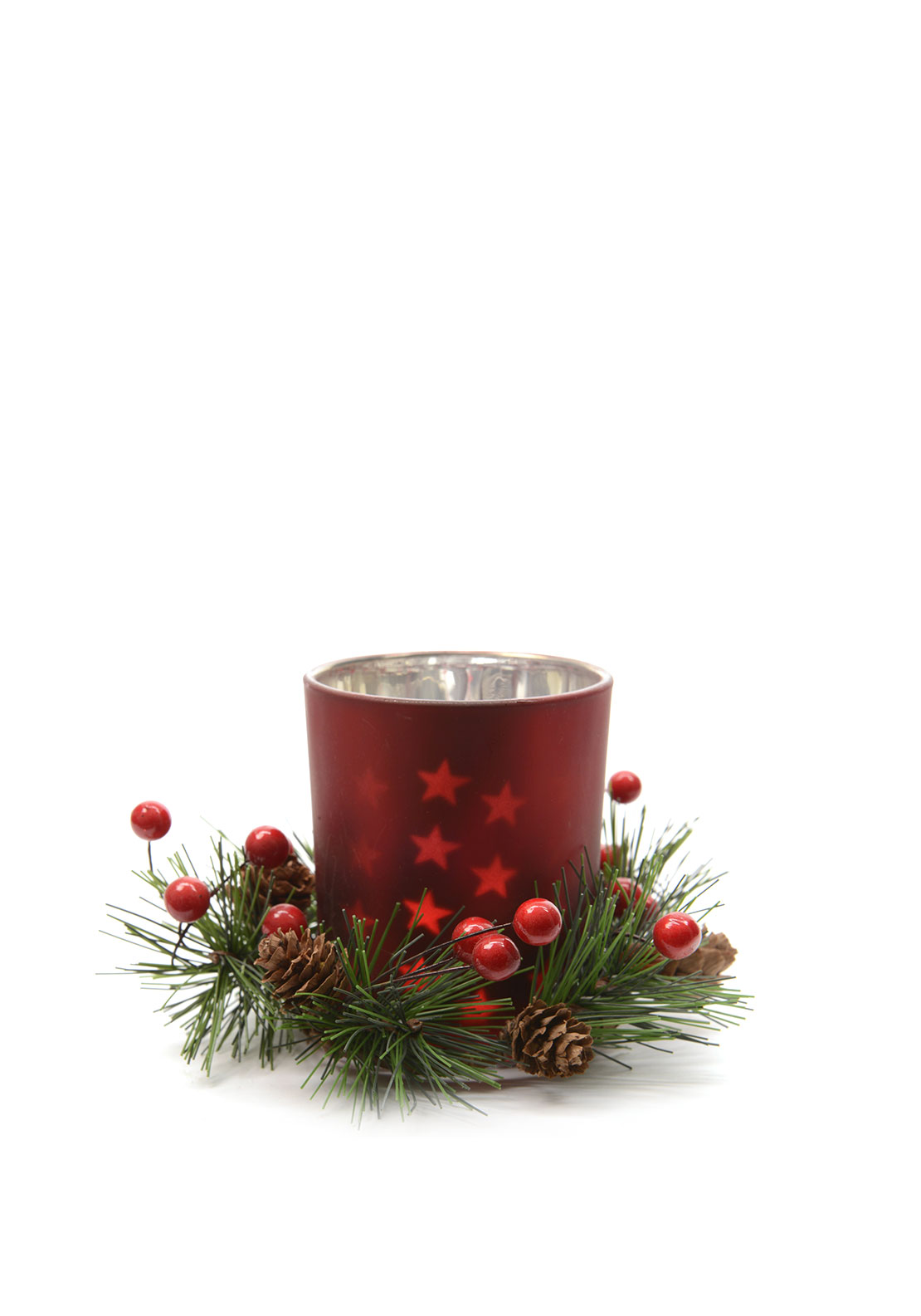 Christmas Wreath Tealight Candle Holder
