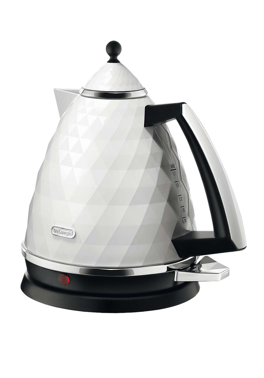 DeLonghi Brillante Design Electric Kettle, White