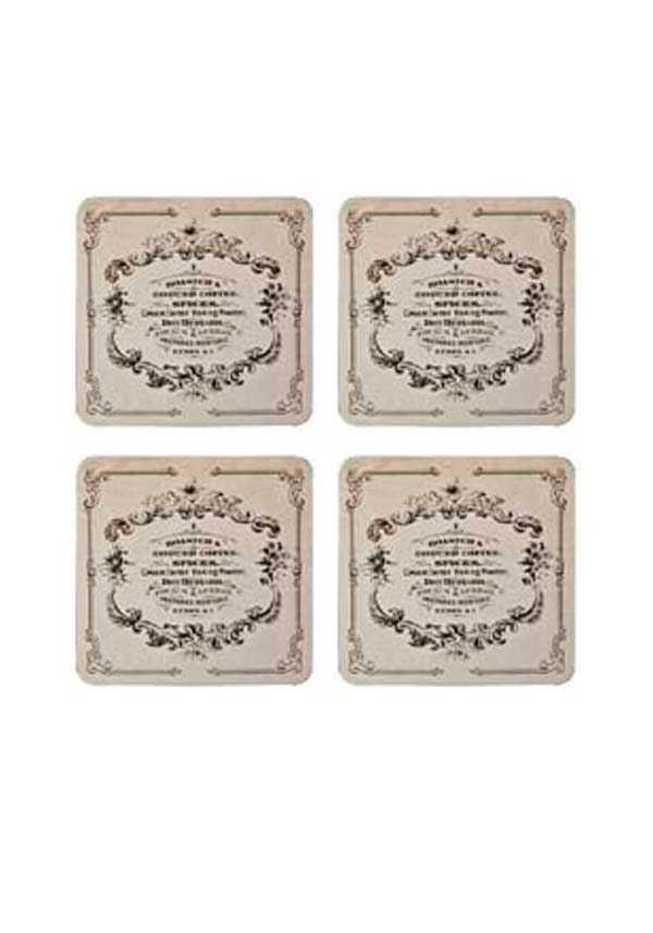 "Denby Lifestyle ""Coffee & Spice"" Coasters, set of four"