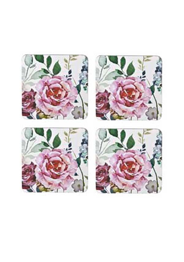 Denby Lifestyle Bold Floral Coasters, set of four