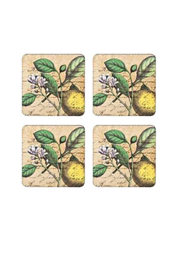 Denby Lifestyle Classic Lemon Coasters, set of four