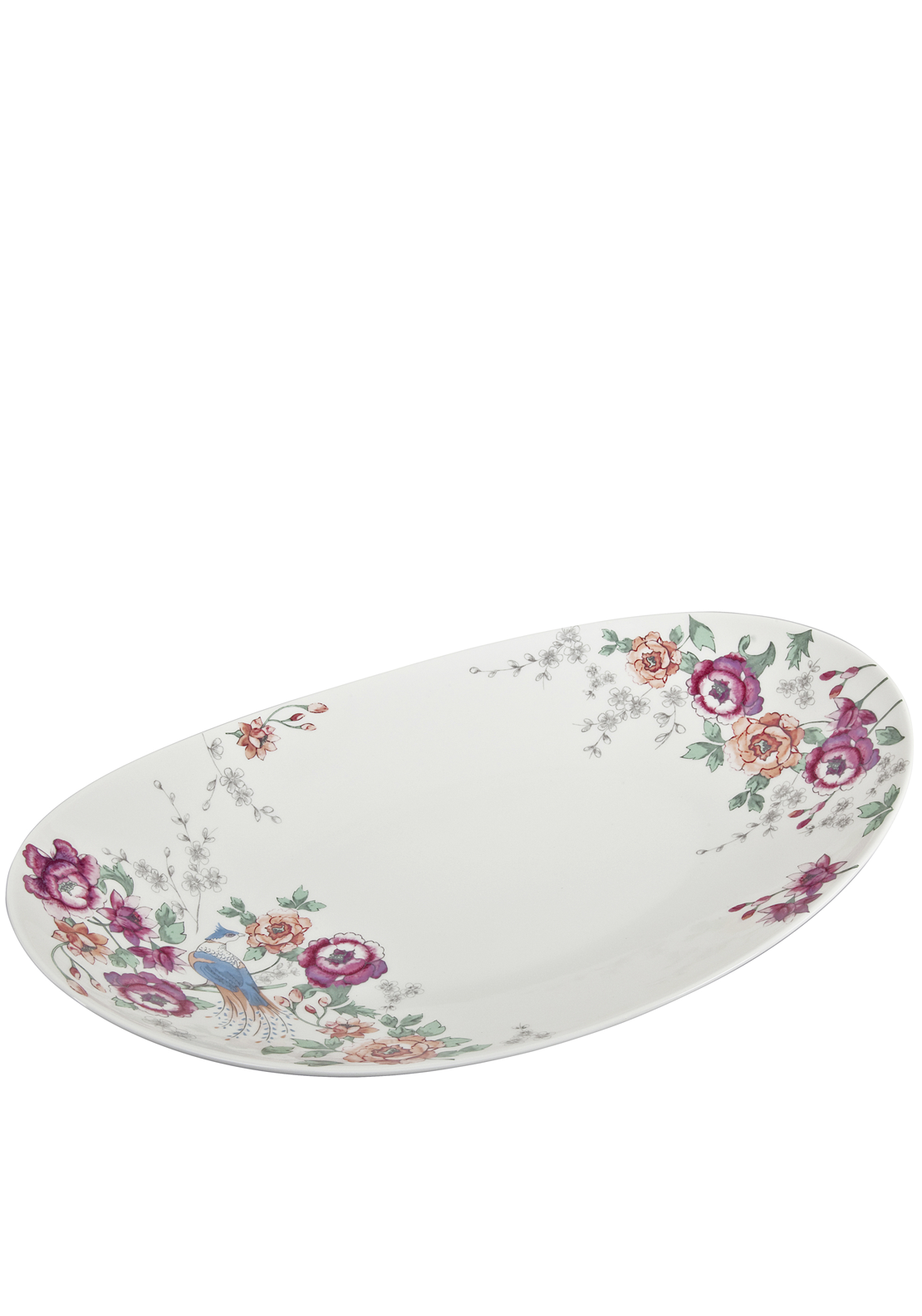 Denby Monsoon Home Kyoto Large Oval Platter, Cream