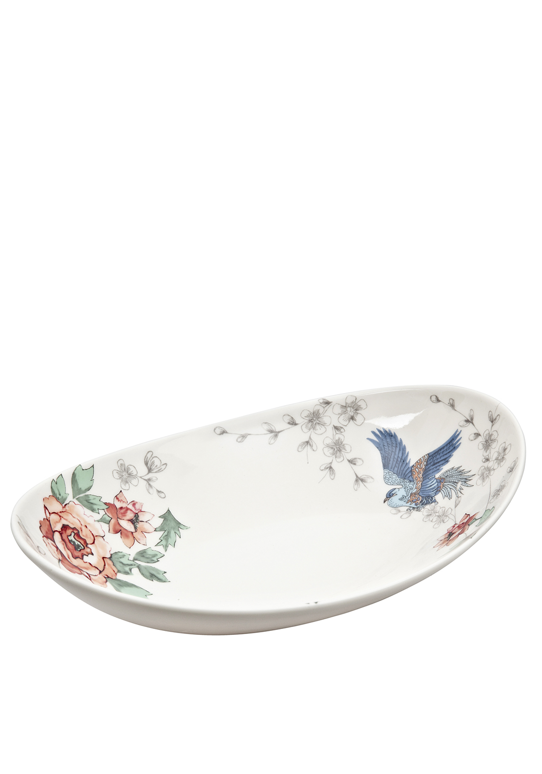 Denby Monsoon Home Kyoto Small Oval Dish, Cream