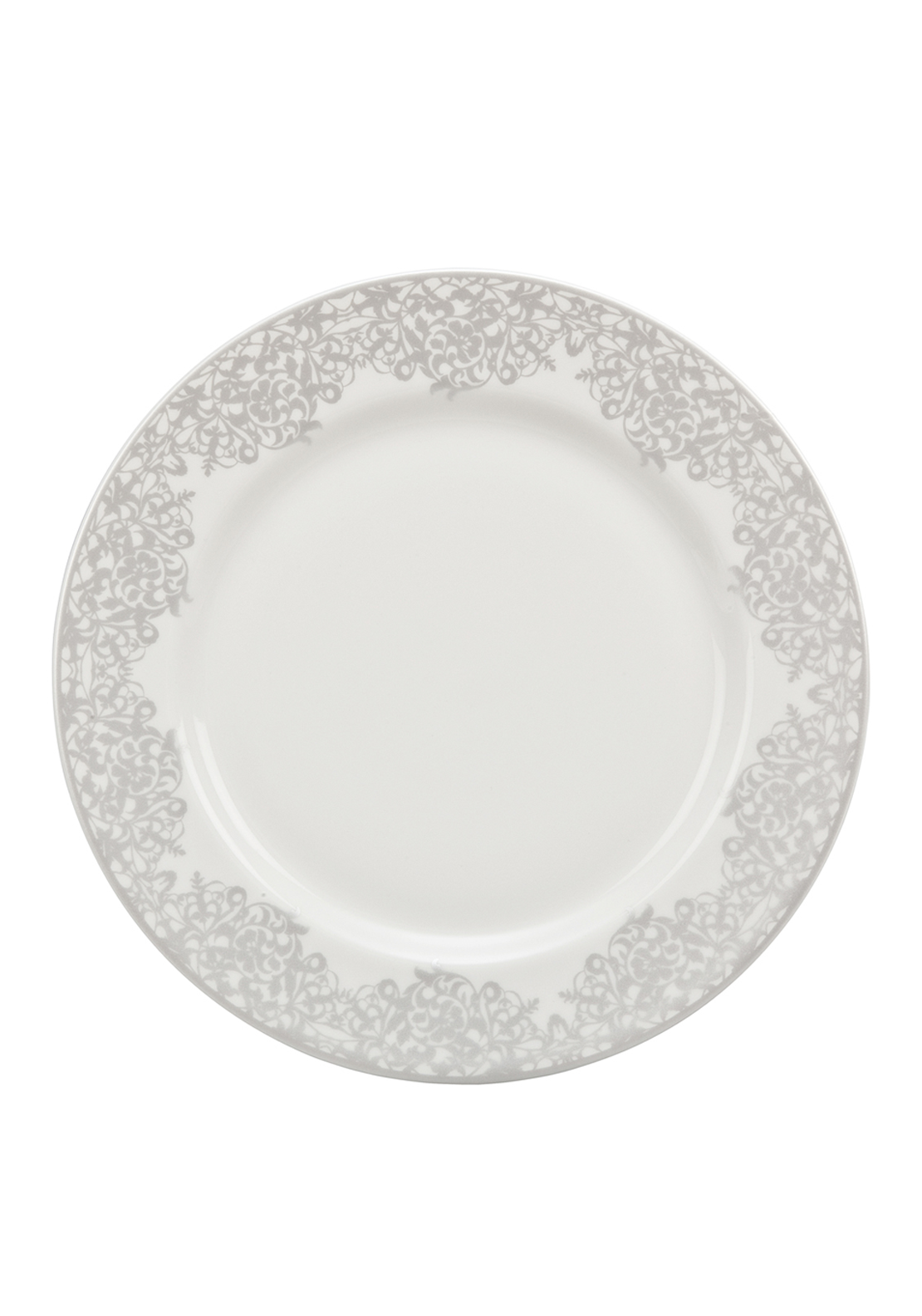 Denby Monsoon Filigree Salad Plate, Silver
