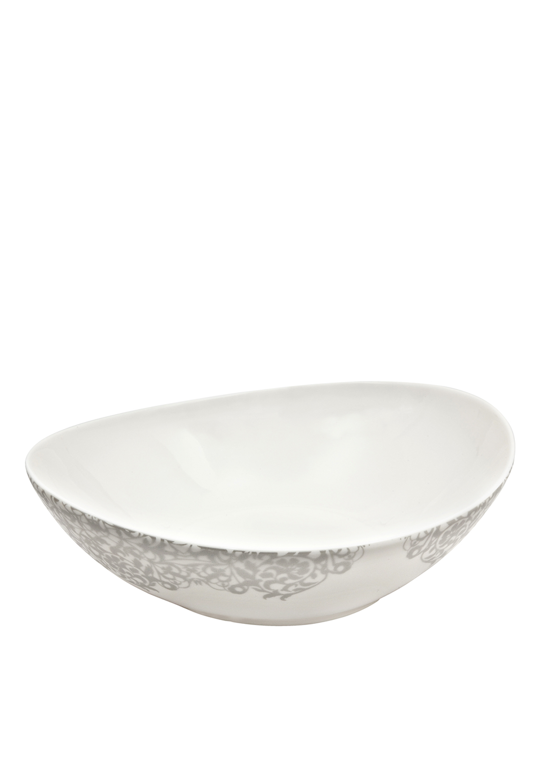 Denby Monsoon Filigree Soup / Cereal Bowl, Silver