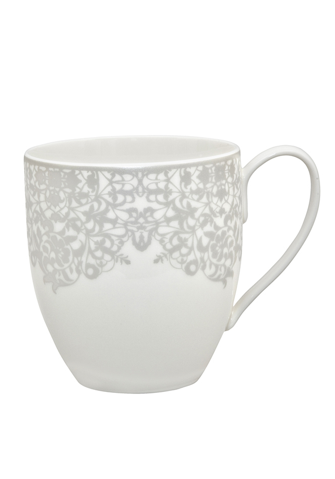 Denby Monsoon Filigree Large Mug, Silver