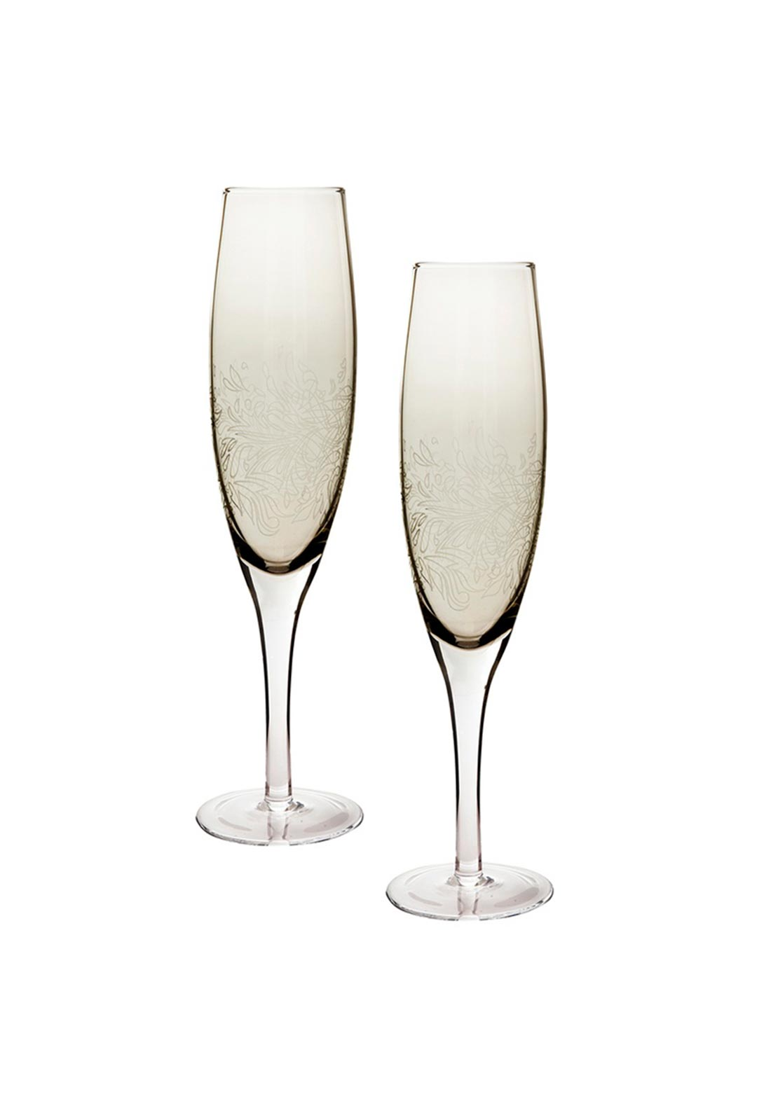Denby Monsoon Home Two Champagne Flutes