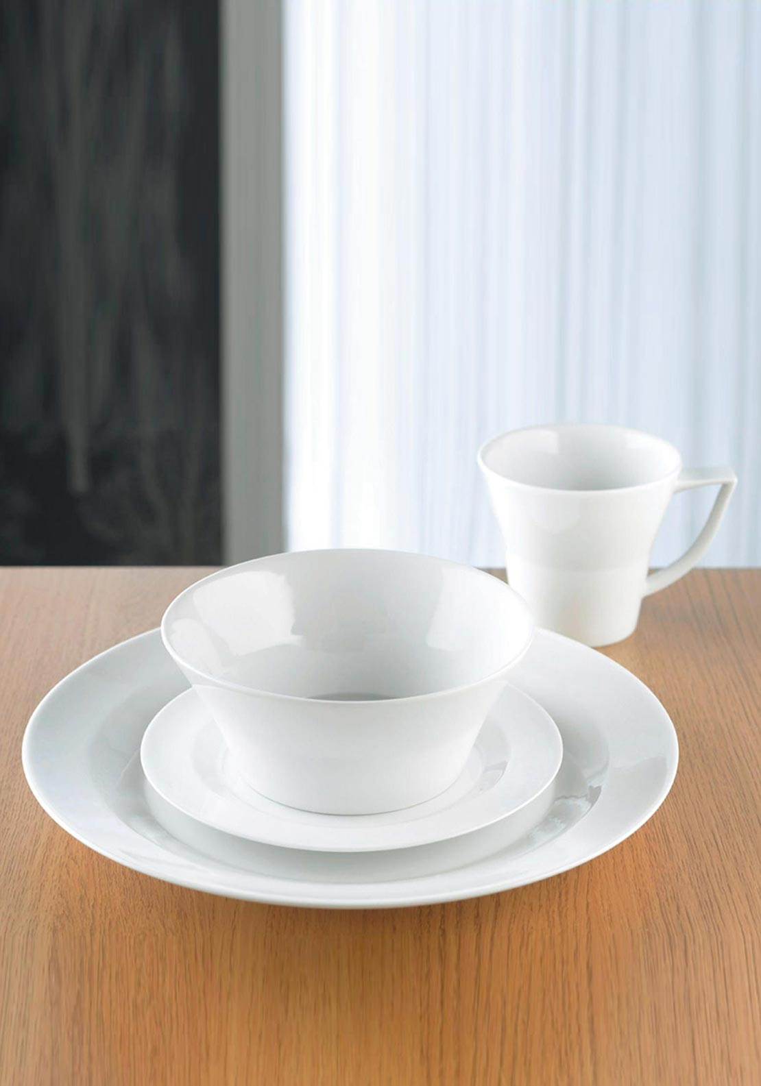 Denby James Martin 4 Piece Mug Set, White
