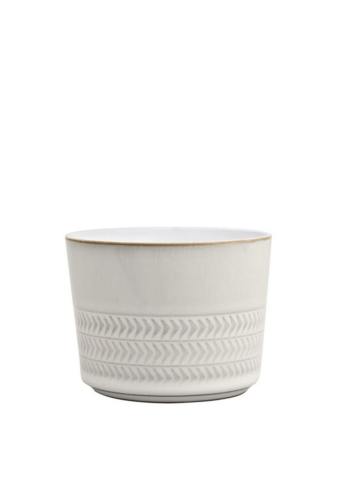 Denby Natural Canvas Textured Open Sugar Bowl/Ramekin