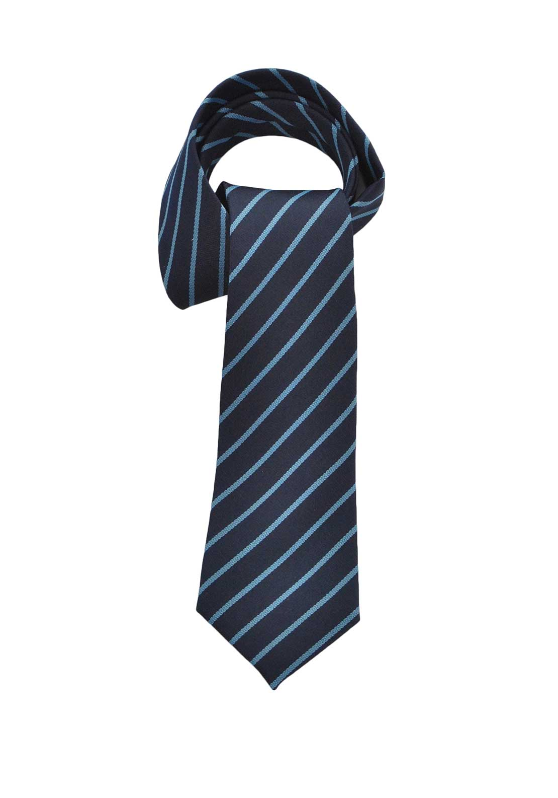 Deer Park Blue Striped School Tie, Navy