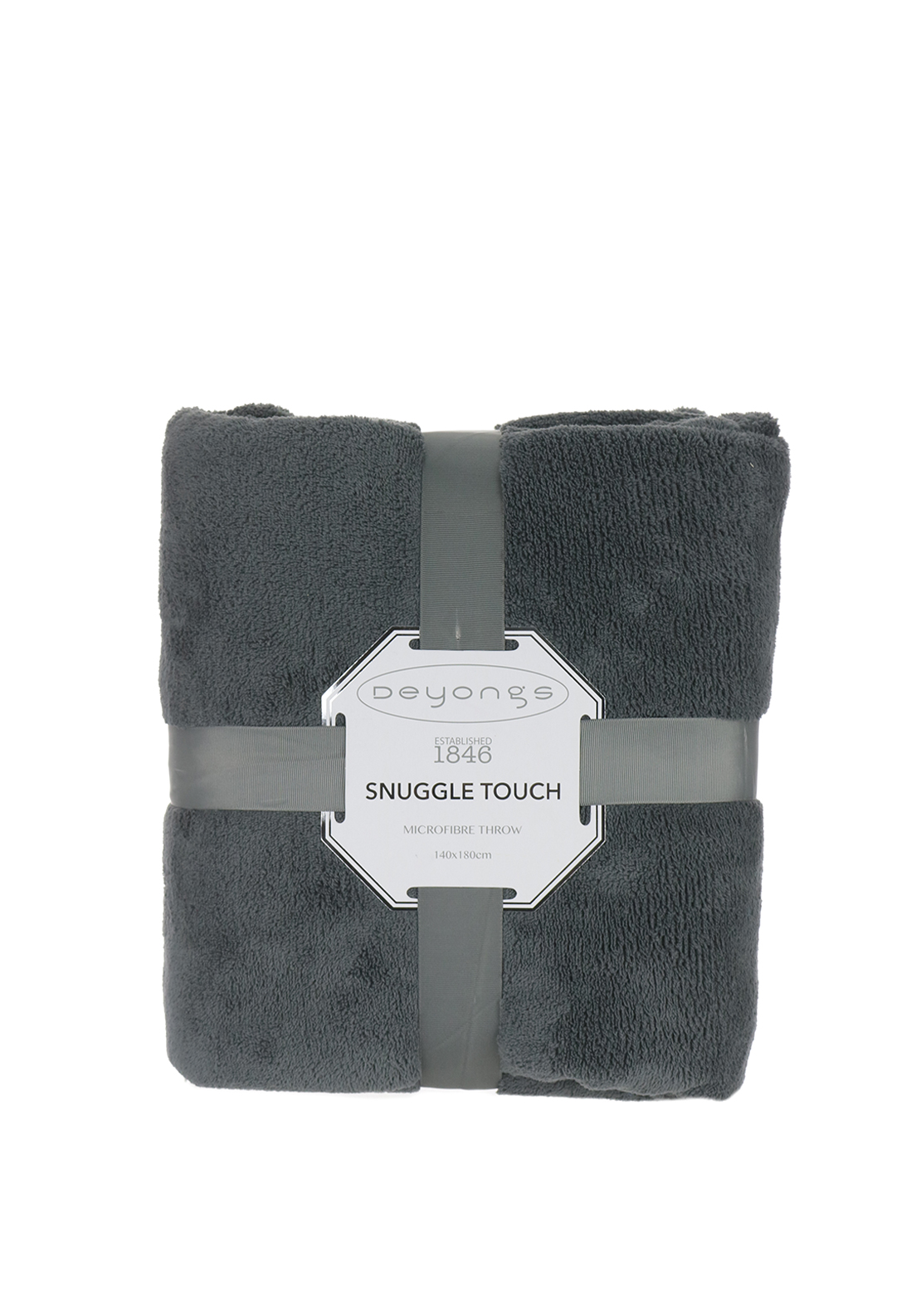 Deyongs Snuggle Touch Throw Charcoal