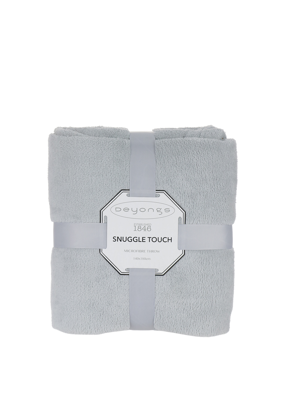 Deyongs Snuggle Touch Throw Silver