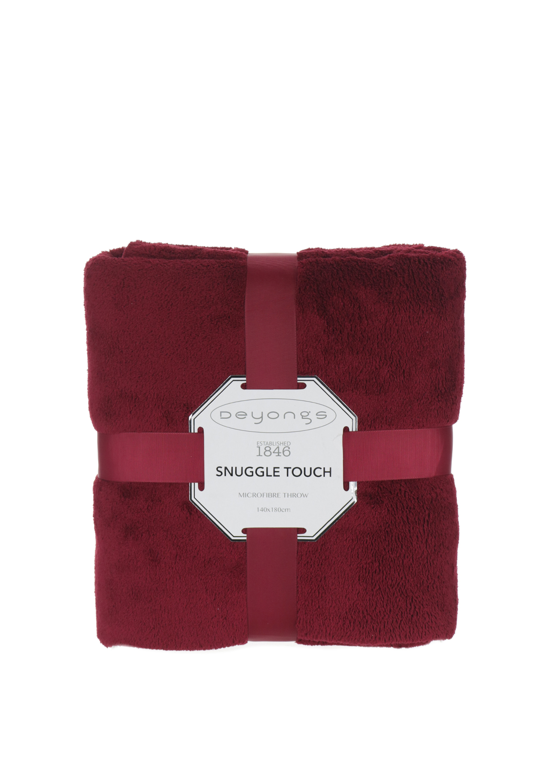 Deyongs Snuggle Touch Throw Bordeaux