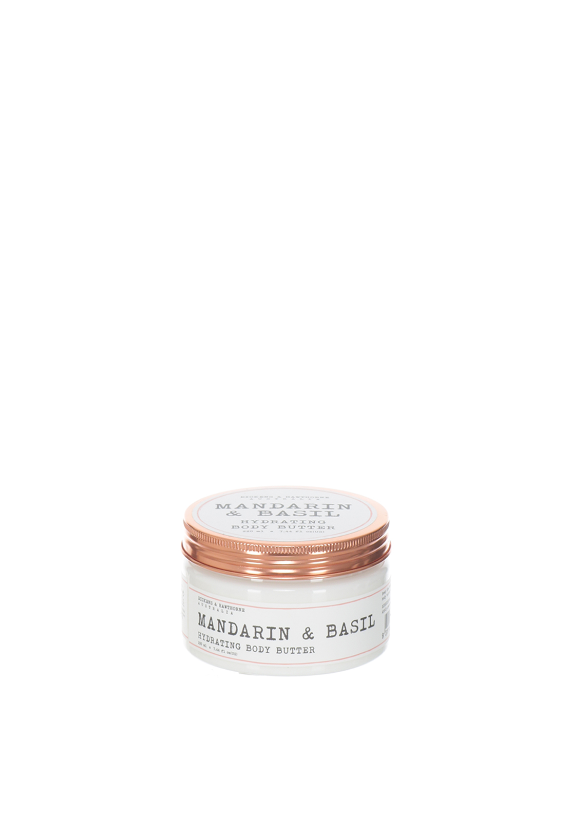 Dickens & Hawthorne Mandarin & Basil Hydrating Body Butter, 220ml