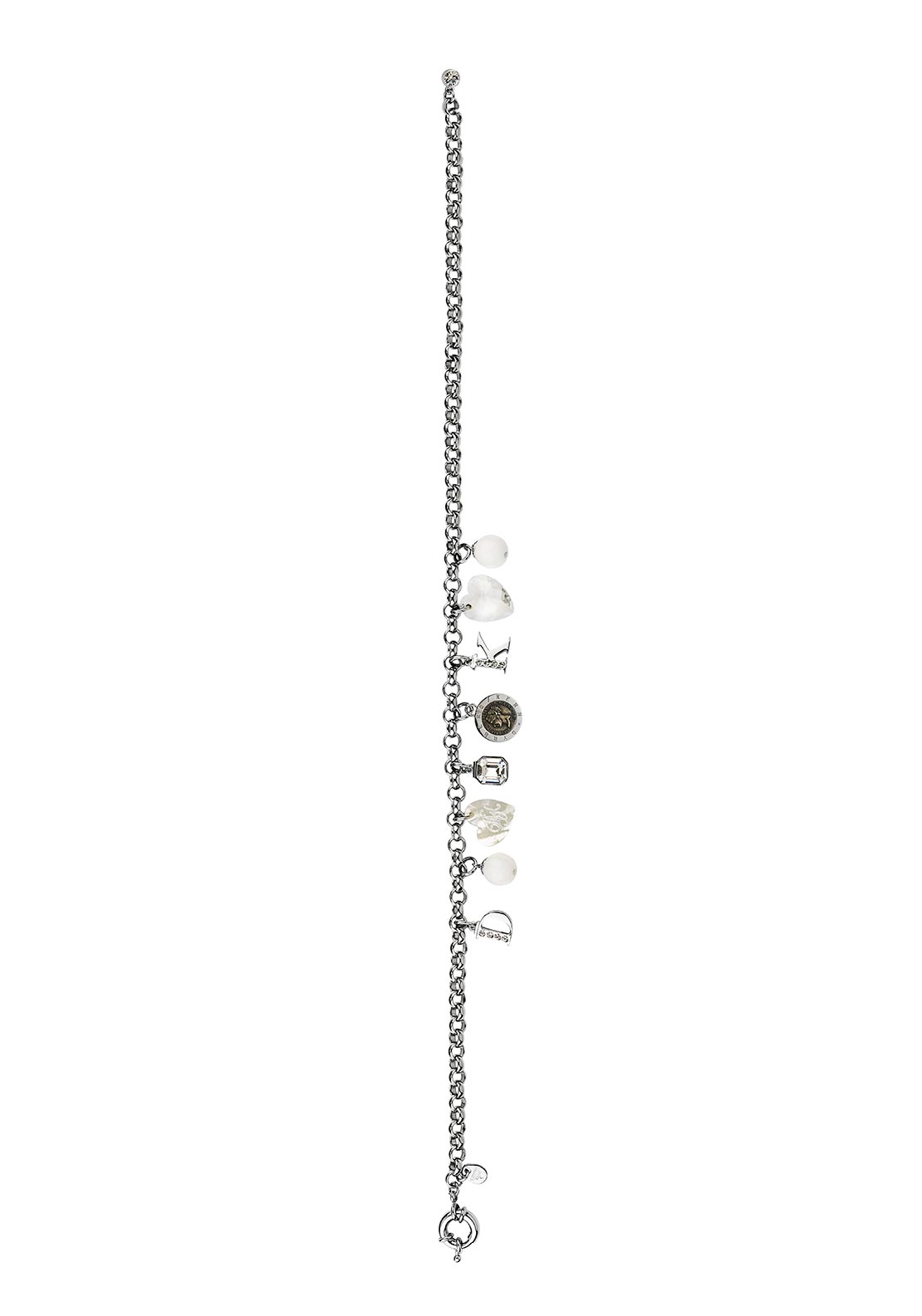 Dyrberg Kern Rosemary Charm Necklace, Silver