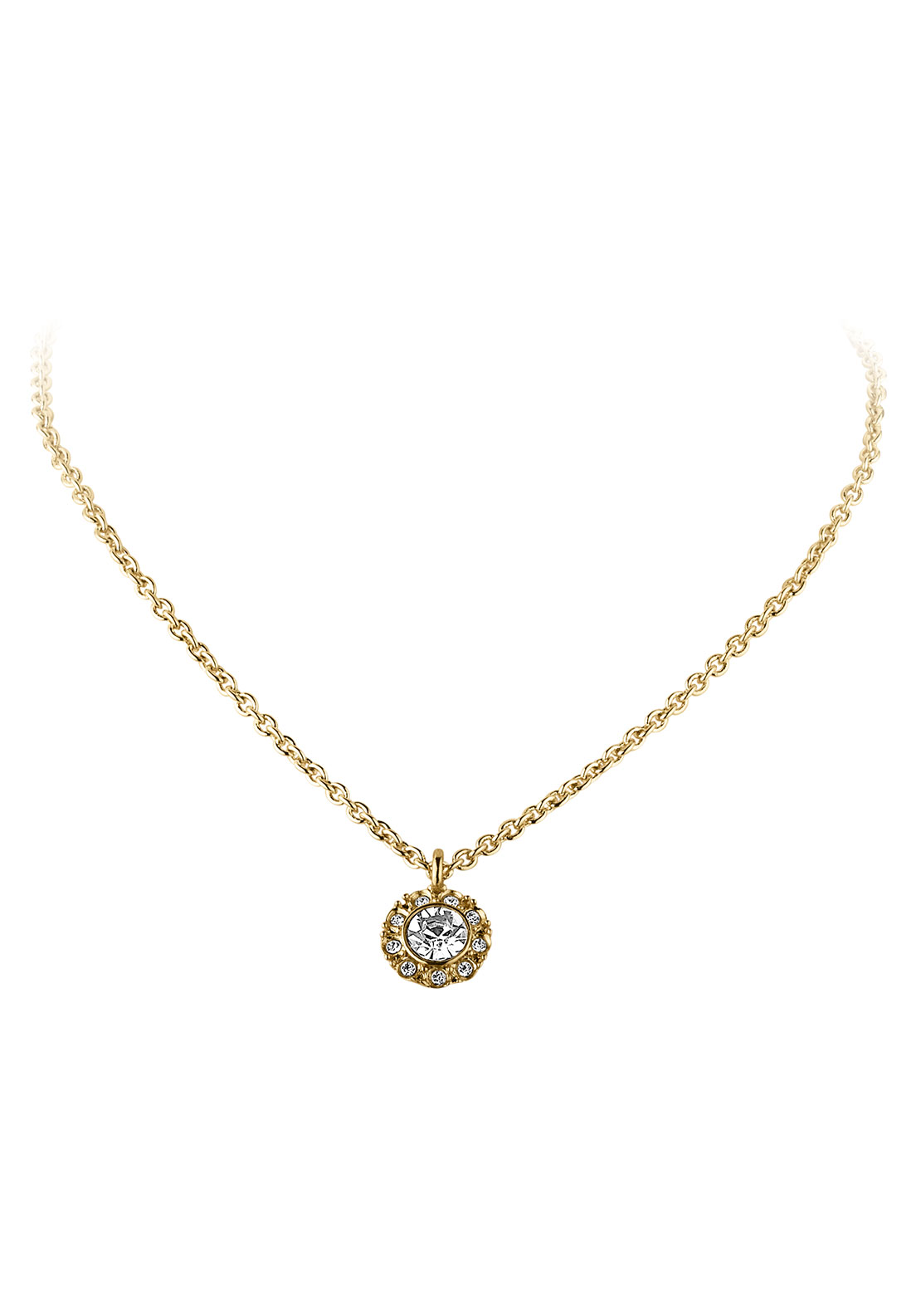 Dyrberg Kern Cosgrove Crystal Necklace, Gold