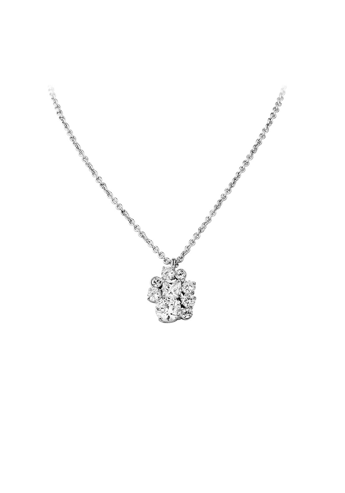 Dyrberg Kern Anquette Crystal Necklace, Silver