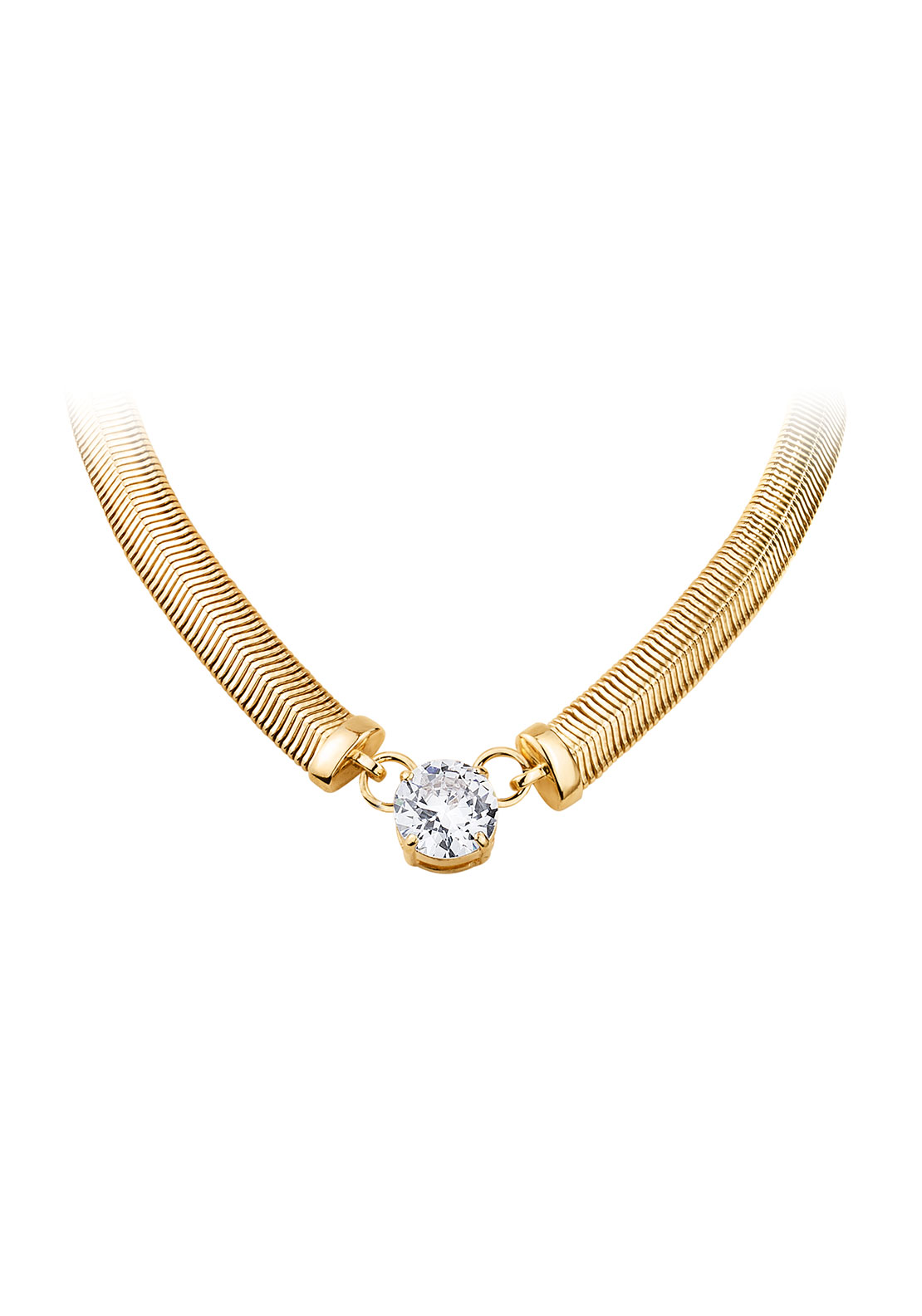 Dyrberg Kern Trisolia Cubic Zirconia Necklace, Gold