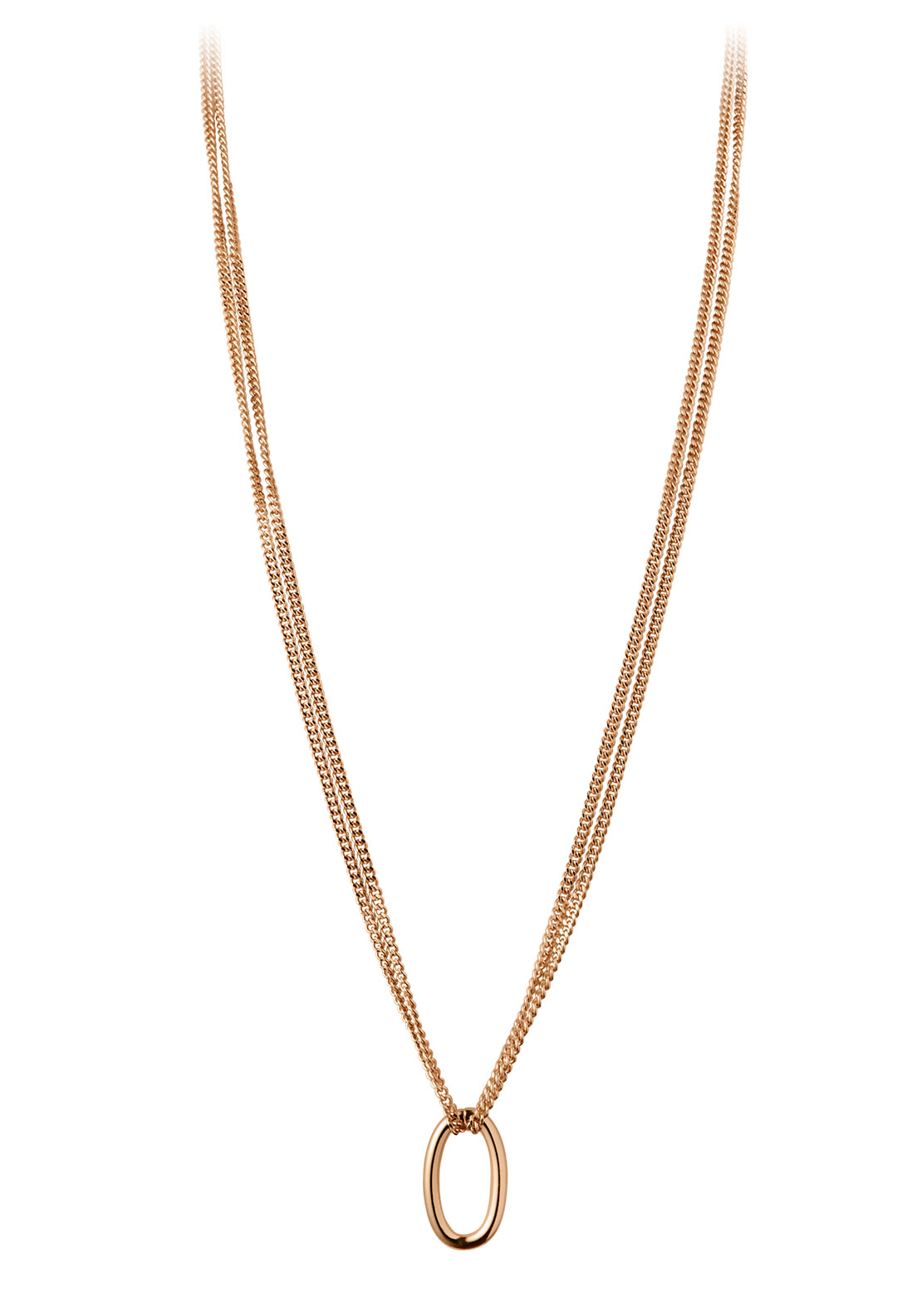 Dyrberg Kern Dextra Double Necklace, Rose Gold