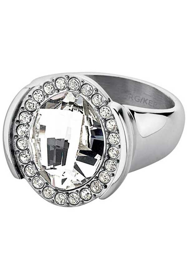 Dyrberg Kern Floriane Ring with Swarovski Elements, Silver