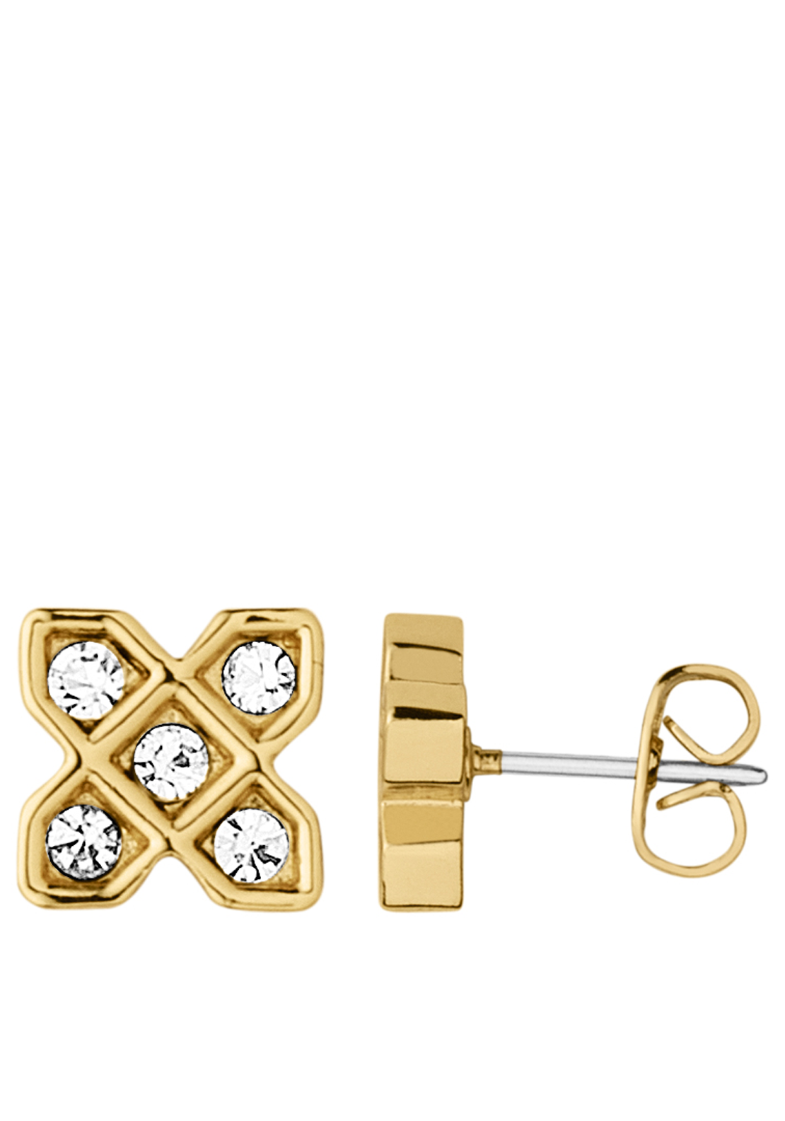 Dyrberg Kern Isis Gold Plated Desert Stud Earrings, Gold