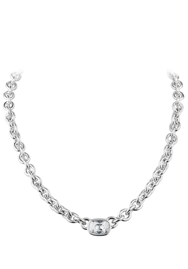 Dyrberg Kern Elisa Crystal Set Chain Necklace, Silver