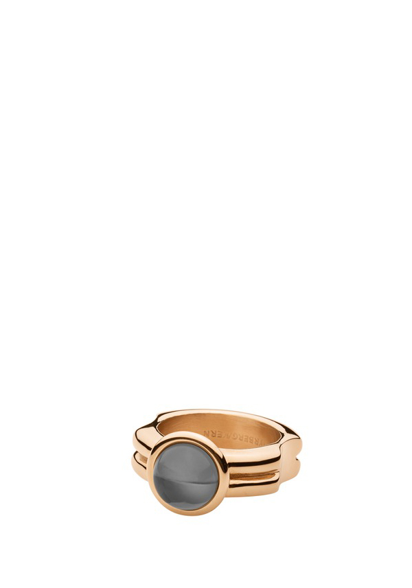 Dyrberg Kern Ring, Cami with grey stone, Rose Gold
