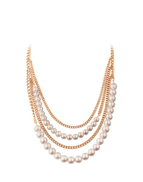 Dyrberg Kern Kerian Chain and Pearl Necklace, Rose Gold