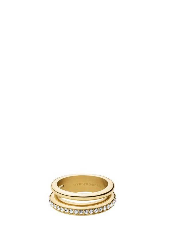 Dyrberg Kern Womens Tiva Double Band Ring, Gold