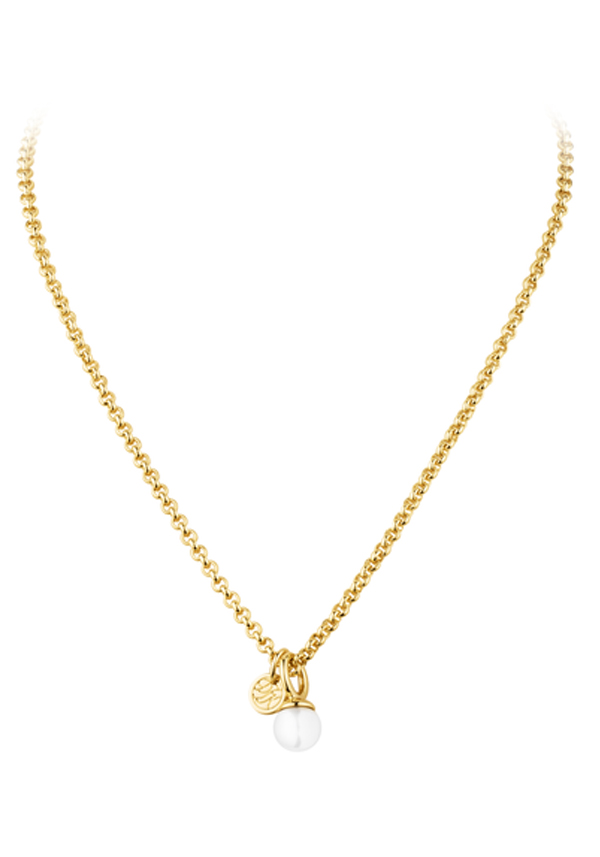 Dyrberg Kern Carla Chain Necklace with pearl pendant, Gold