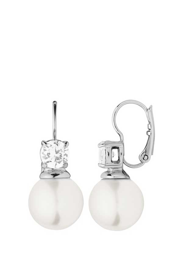 Dyrberg Kern Womens Lyna Crystal Earrings, Silver
