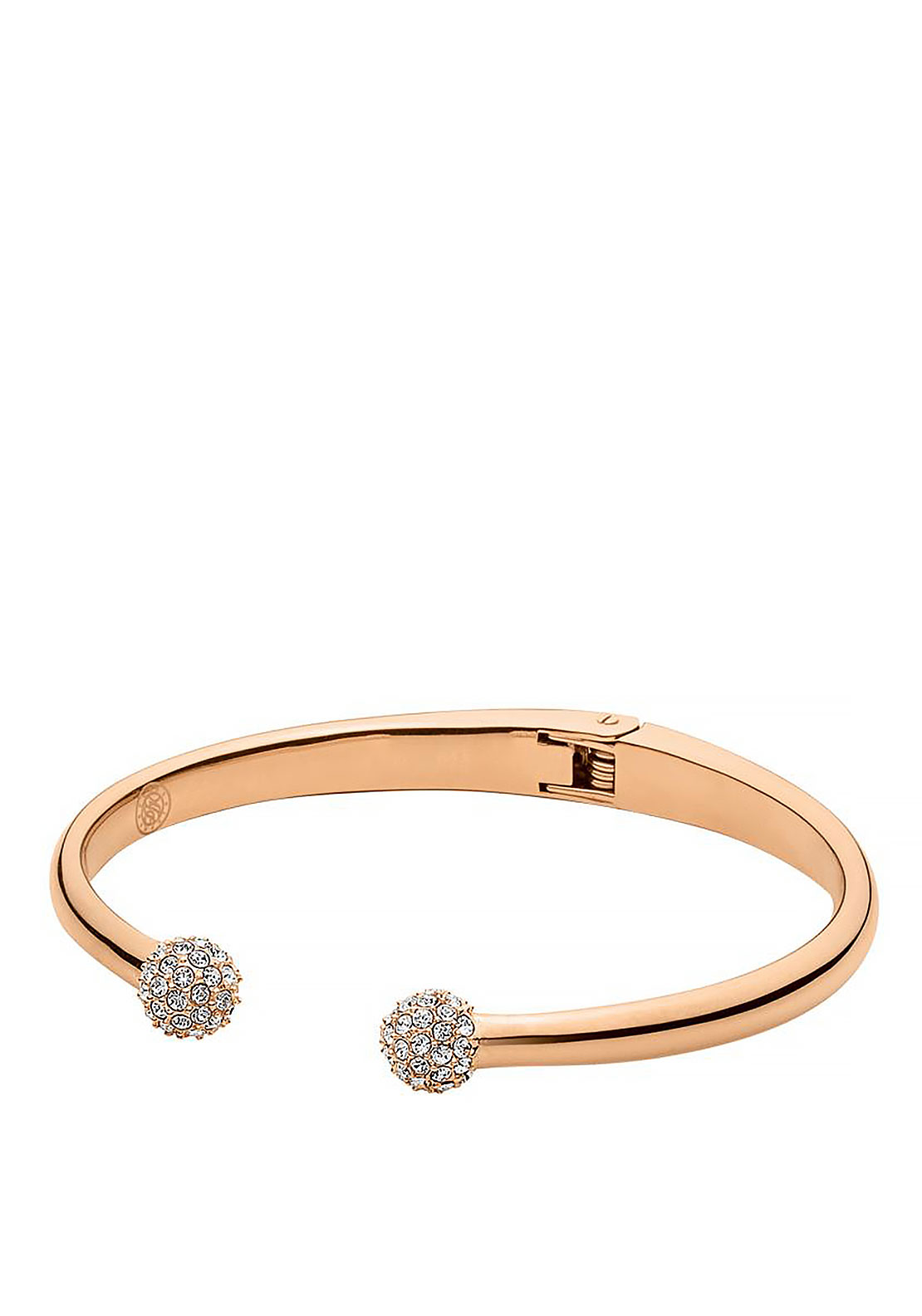 Dyrberg Kern Velvet Bangle, Rose Gold