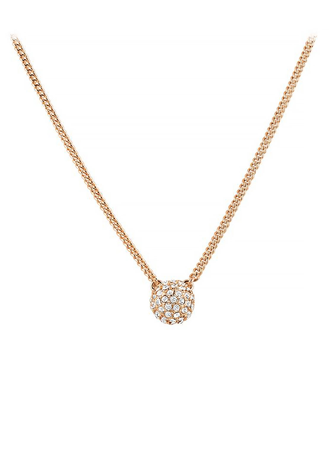 Dyrberg Kern Fiuma Chain Necklace, Rose Gold
