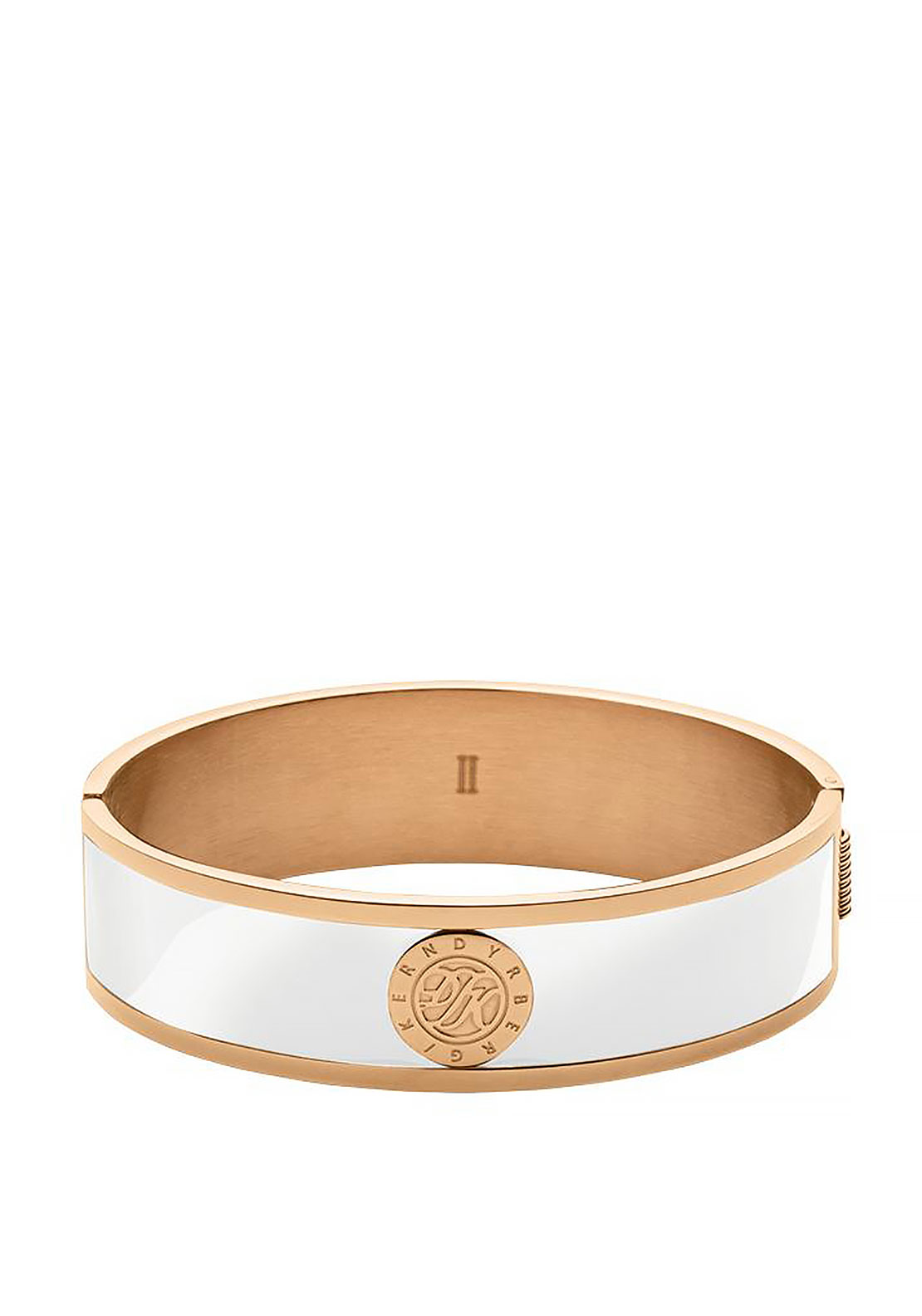 Dyrberg Kern Jovika Bangle, White & Rose Gold