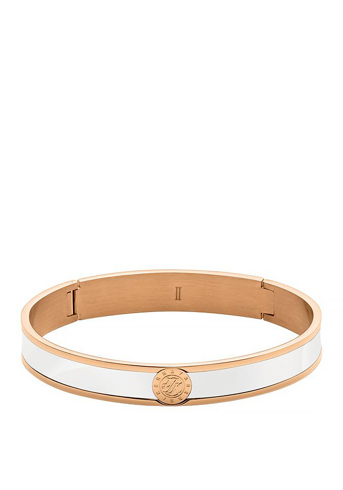 Dyrberg Kern Pennika Bangle, White & Rose Gold