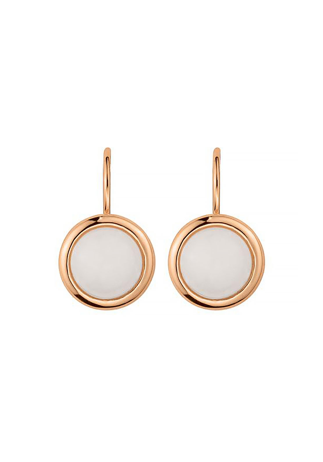 Dyrberg Kern Poala Earrings, White & Rose Gold