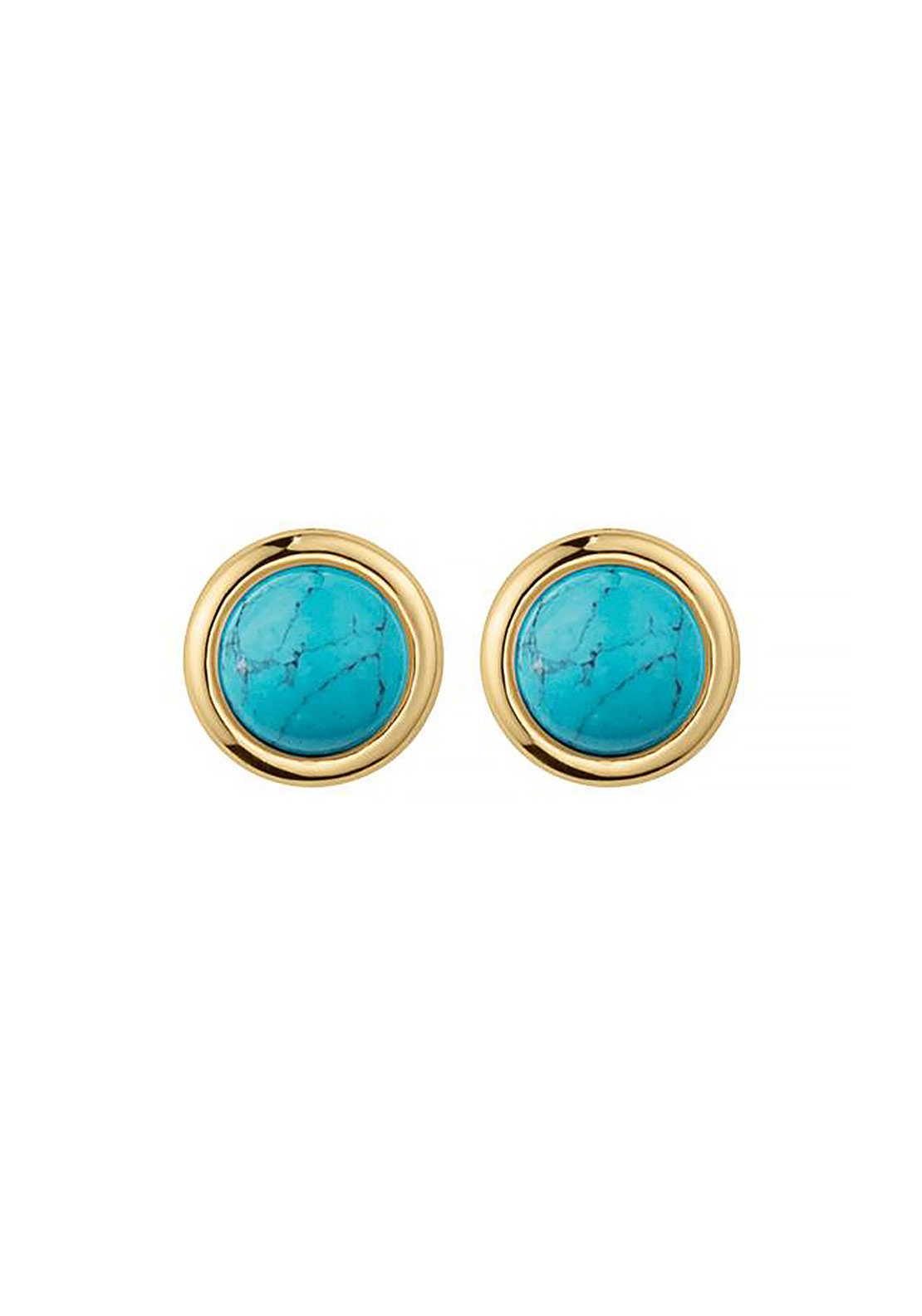 Dyrberg Kern Fina Earrings, Turquoise & Gold