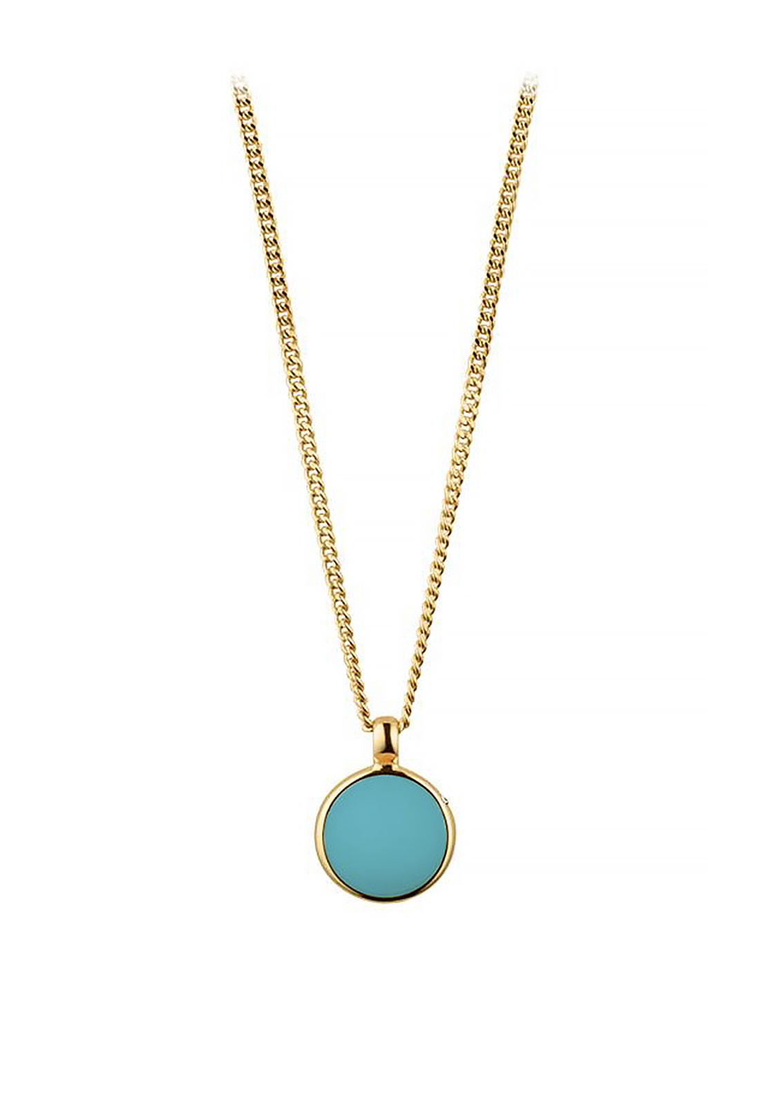 Dyrberg Kern Glaze Necklace, Turquoise & Gold