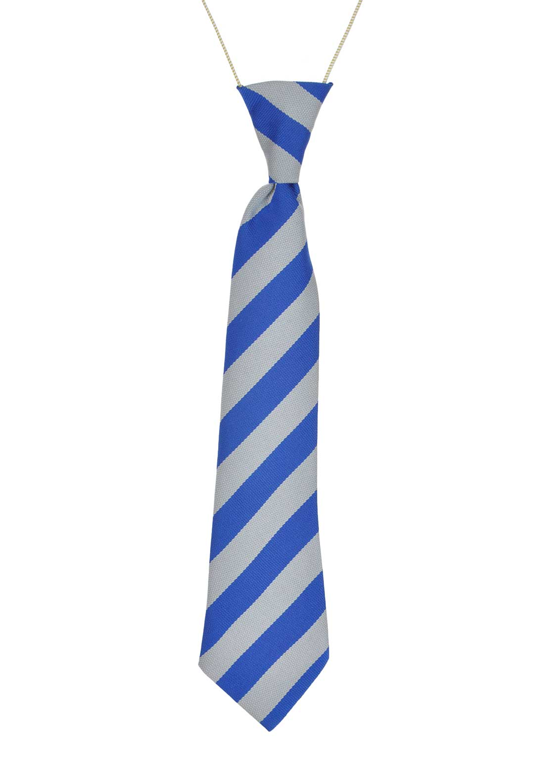 Hunter Convoy N.S Striped Readymade Elasticated School Tie, Royal Blue