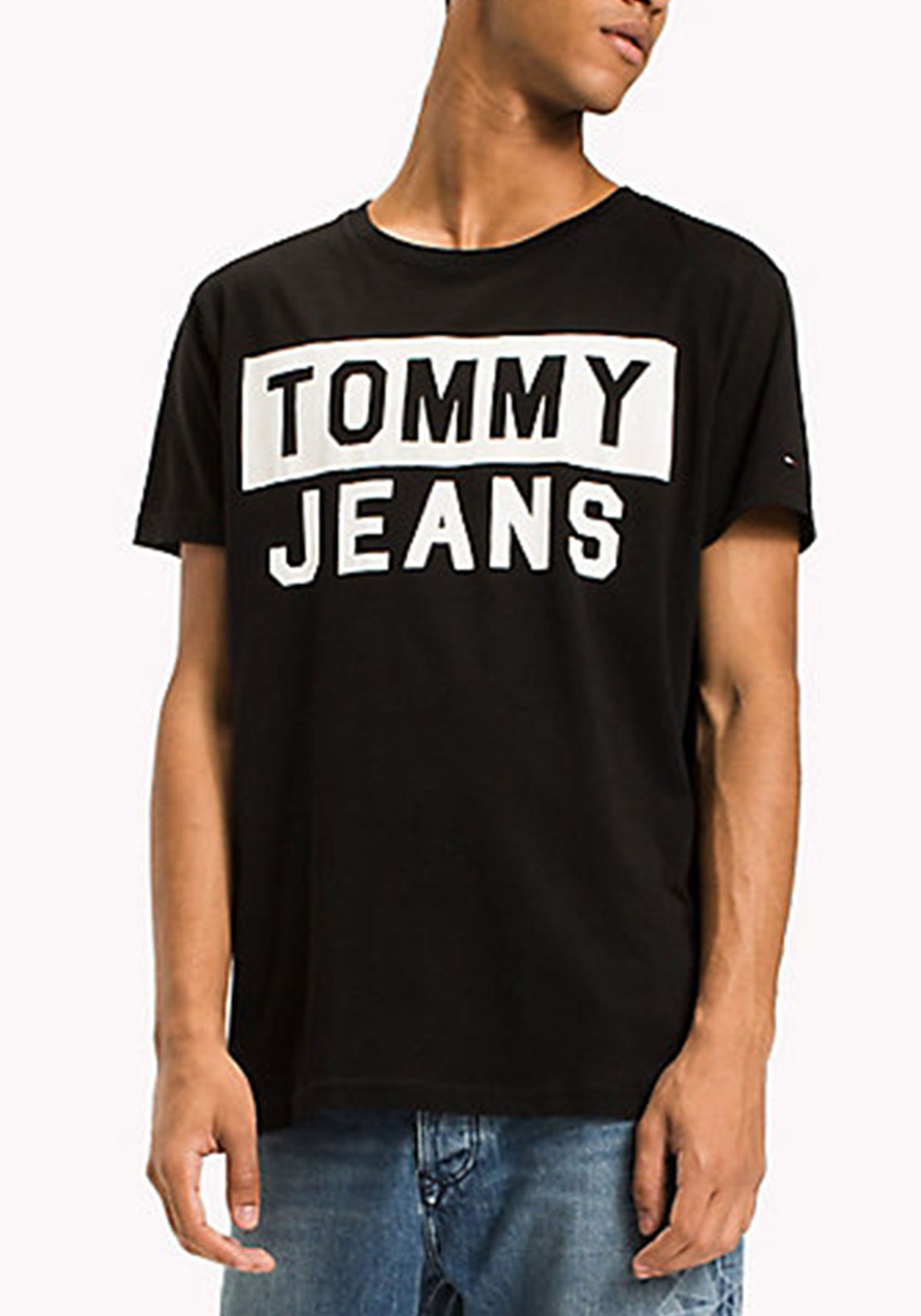 Tommy Jean's Men's Logo T-Shirt, Black