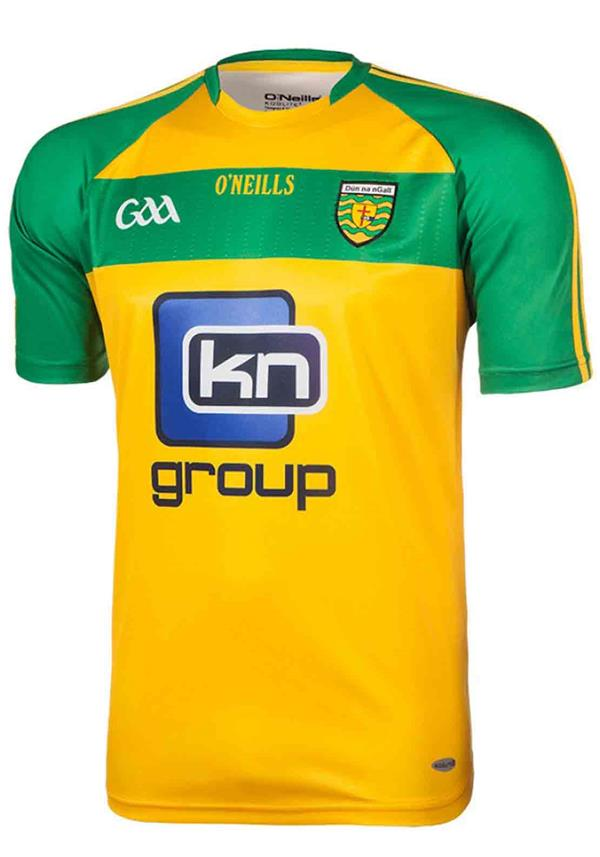 O'Neills Donegal GAA Home Jersey, Amber and Green