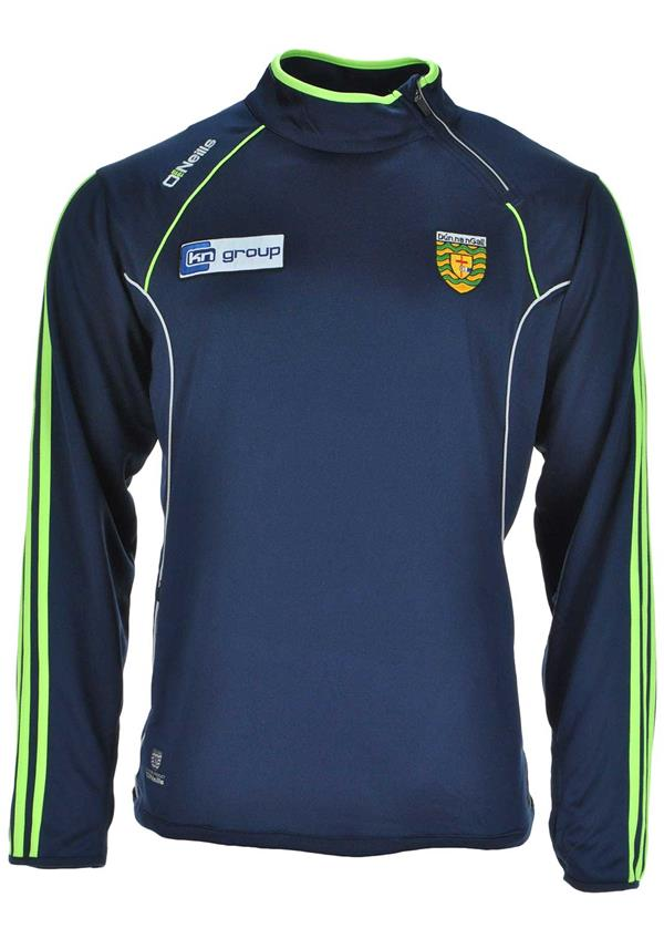 O'Neills Donegal GAA Ormond Side Zip Squad Top, Navy