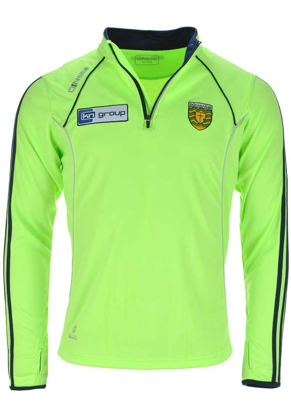 O'Neills Donegal GAA Ormond Half Zip Training Jacket, Lime Green