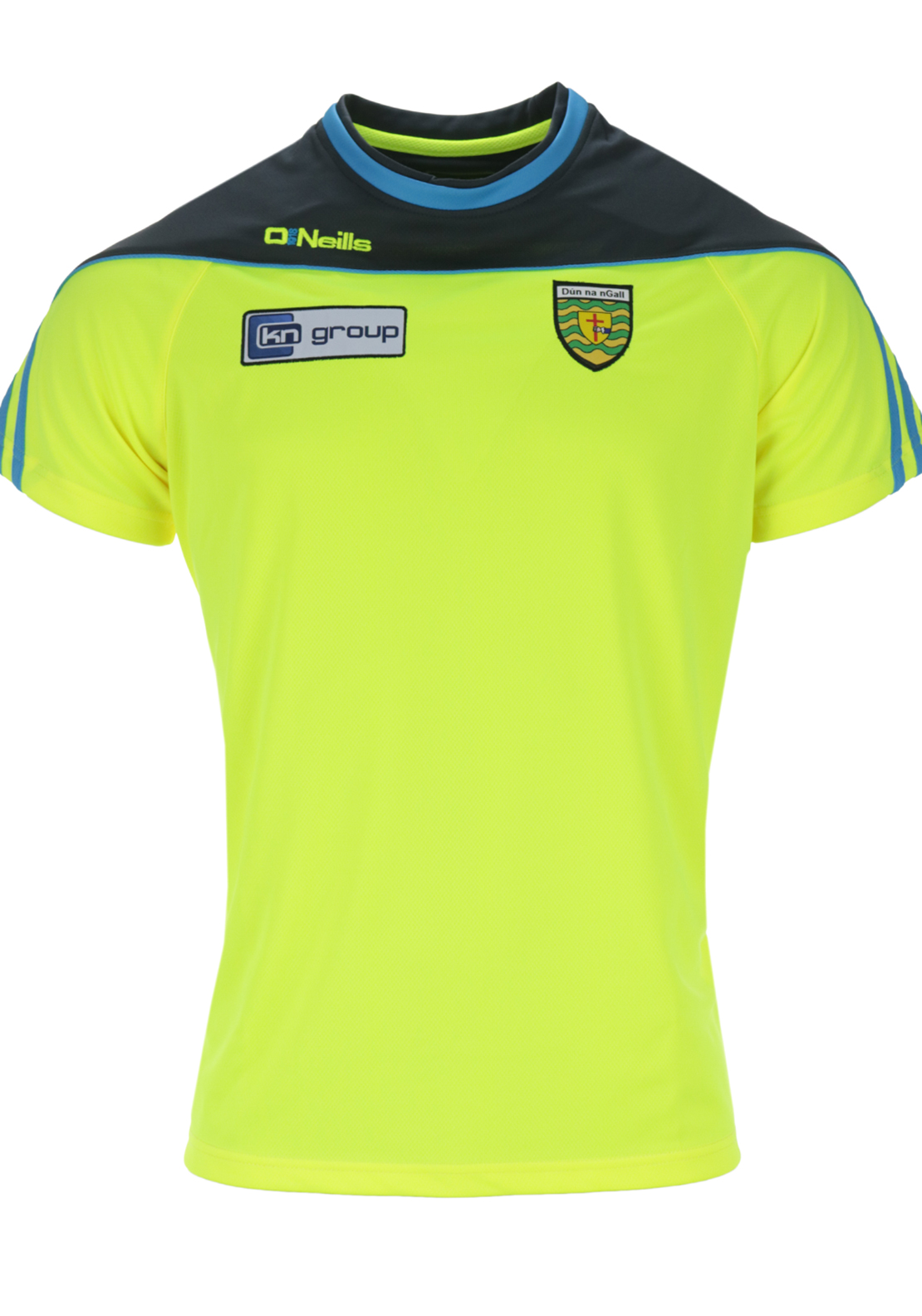 O'Neills Donegal GAA Parnell T-Shirt, Yellow and Grey