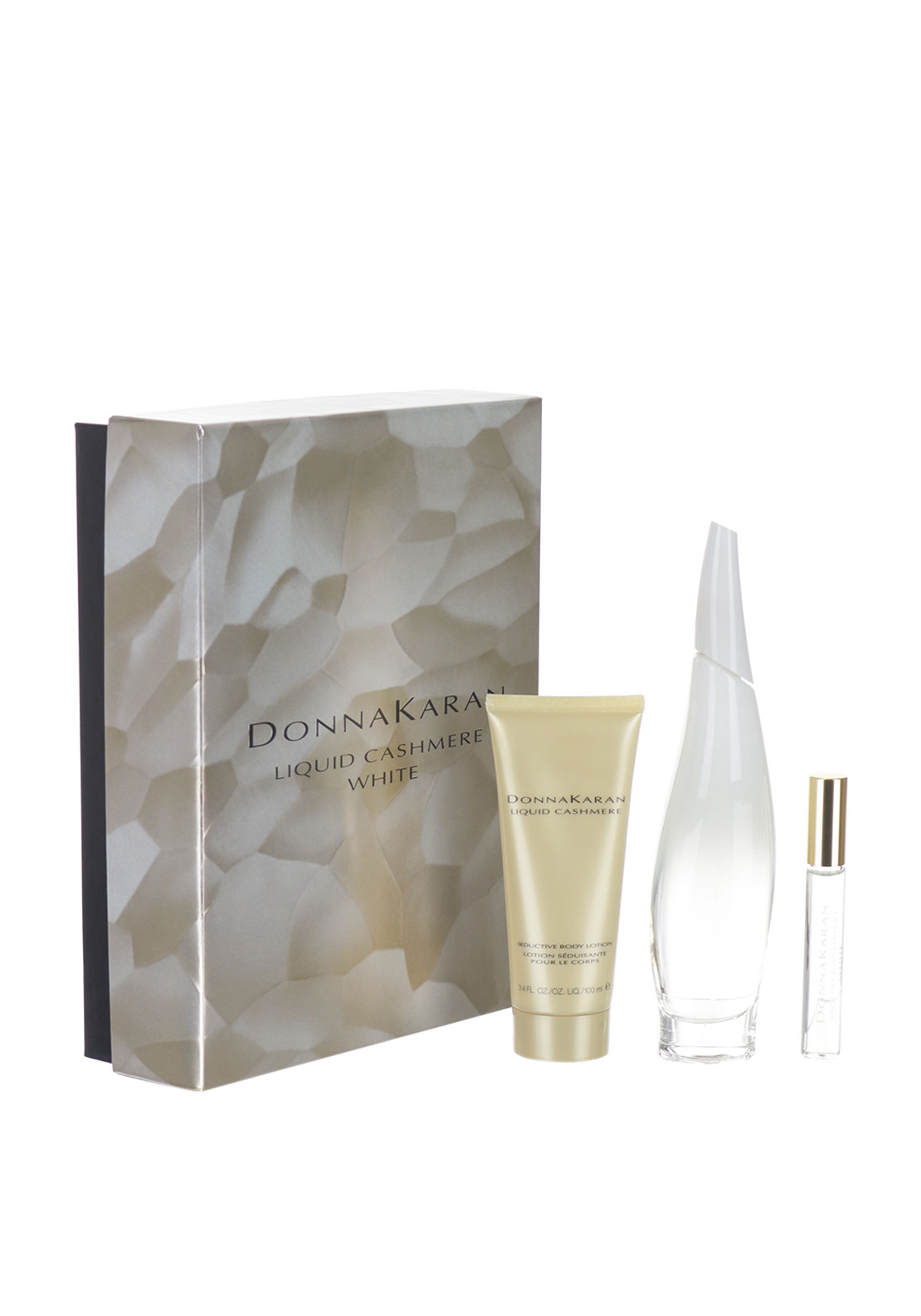 Donna Karan Liquid White Sexy Cashmere Set For Her