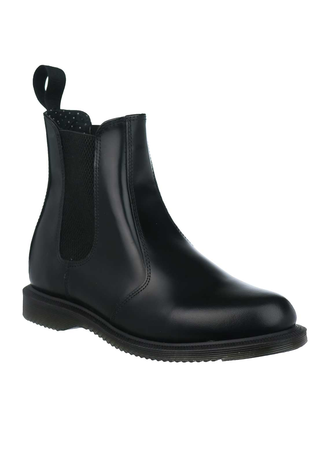 Dr. Martens Womens Flora Leather Boots, Black