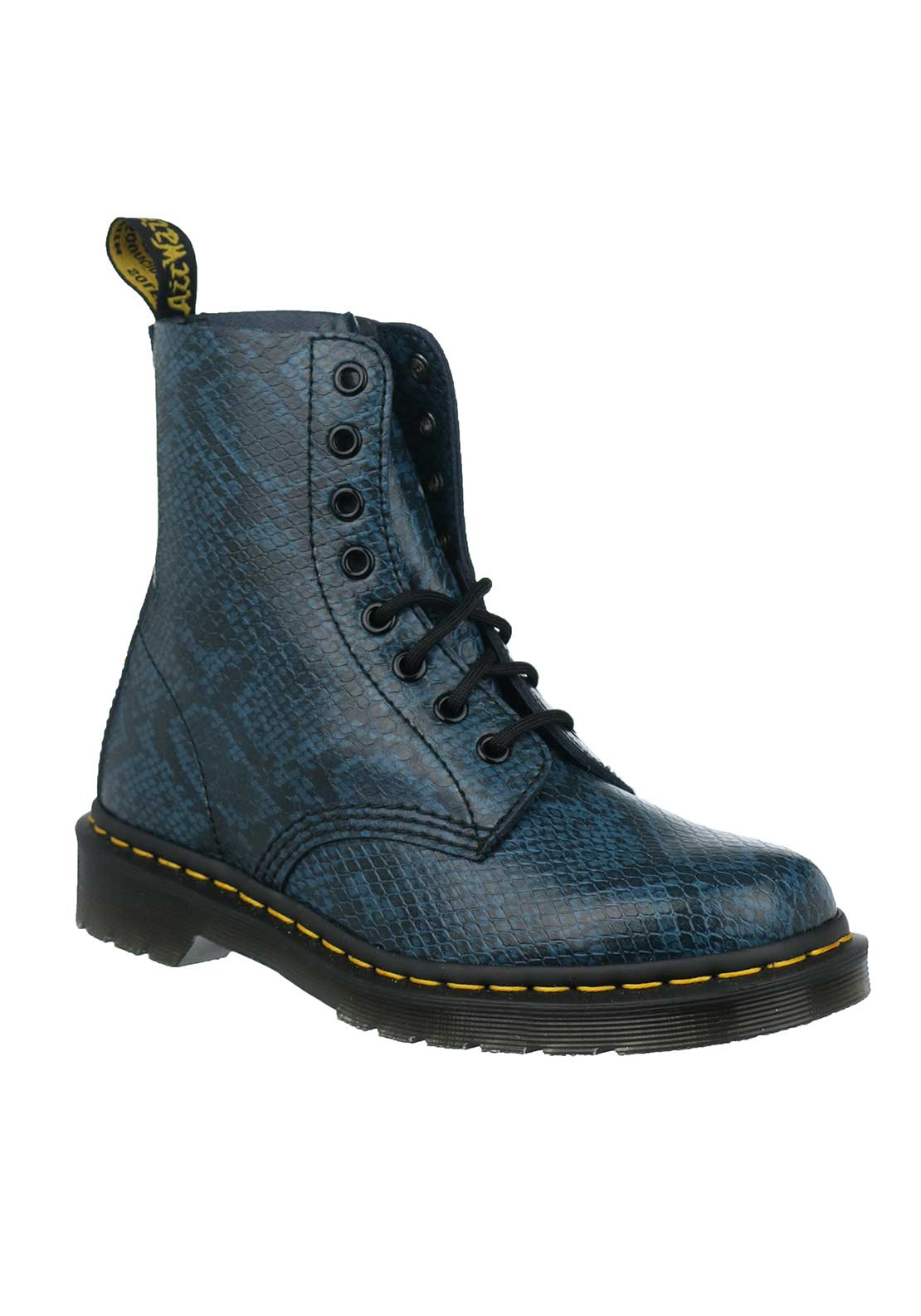 Dr. Martens Womens Pascal Leather Boots, Blue