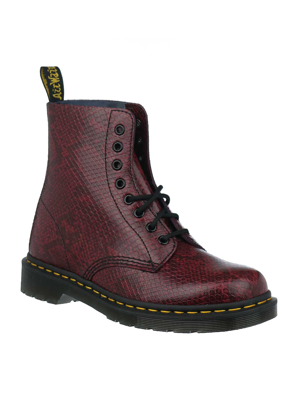 Dr. Martens Womens Pascal Leather Boots, Wine