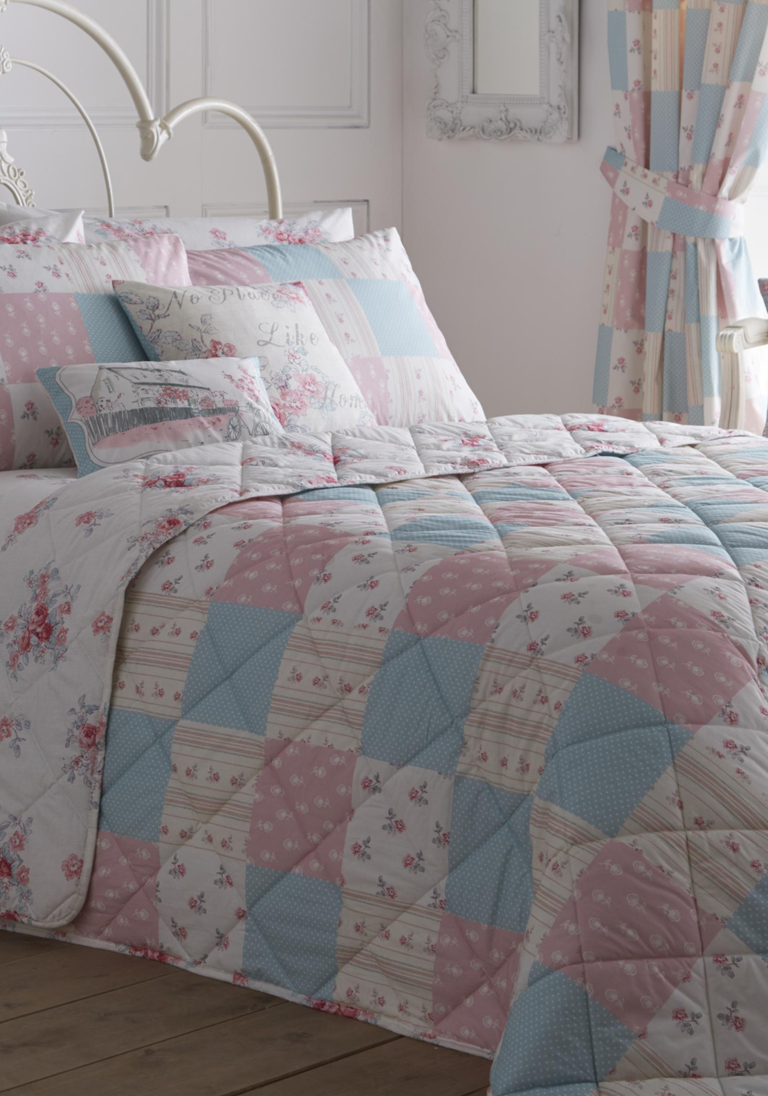 Dreams & Drapes Patsy Rose Reversible Bedspread, Pink 229 x 195cms